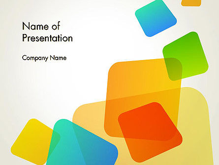 Transparent Colored Squares PowerPoint Template
