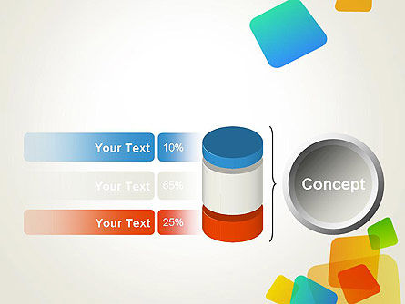 Transparent Colored Squares PowerPoint Template Slide 11