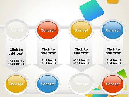Transparent Colored Squares PowerPoint Template Slide 18
