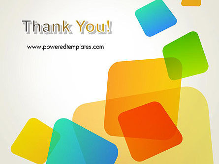 Transparent Colored Squares PowerPoint Template Slide 20