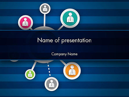 Online Business Networking PowerPoint Template, 12349, Careers/Industry — PoweredTemplate.com