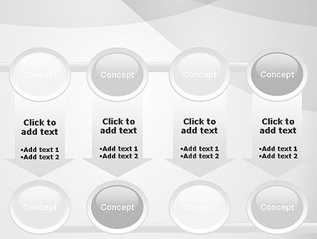 Abstract Rounded Gray Layers PowerPoint Template Slide 18