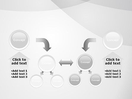 Abstract Rounded Gray Layers PowerPoint Template Slide 19