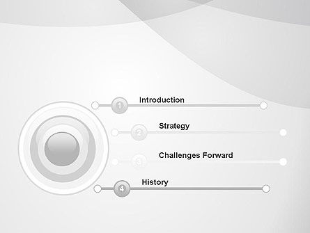 Abstract Rounded Gray Layers PowerPoint Template Slide 3