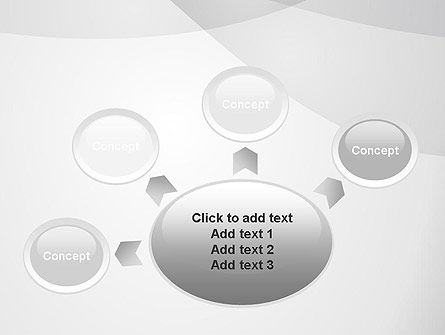 Abstract Rounded Gray Layers PowerPoint Template Slide 7