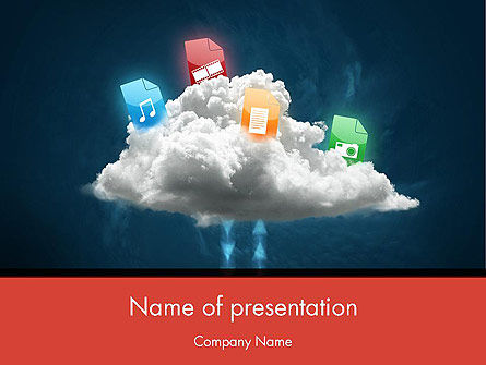 Technology and Science: Cloud Exchange PowerPoint Template #12353