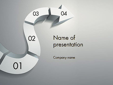 3D Road Concept PowerPoint Template
