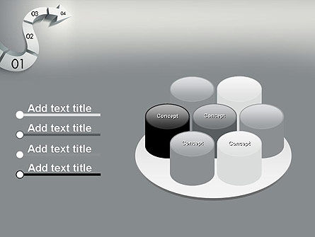 3D Road Concept PowerPoint Template Slide 12