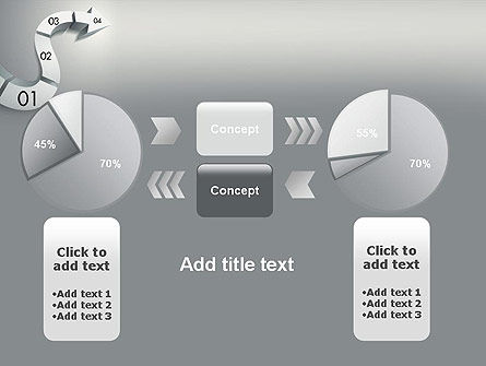 3D Road Concept PowerPoint Template Slide 16