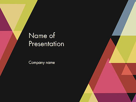 Geometric Abstraction PowerPoint Template, 12355, Abstract/Textures — PoweredTemplate.com