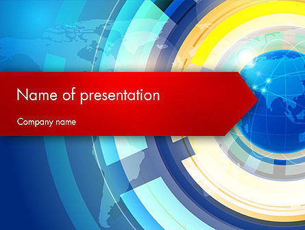 Business Concepts: Global Business Environment PowerPoint Template #12356