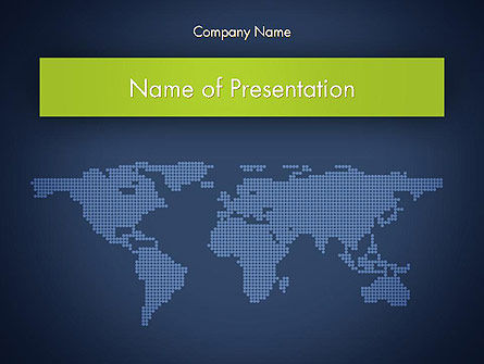 Global: World Map Continents PowerPoint Template #12357