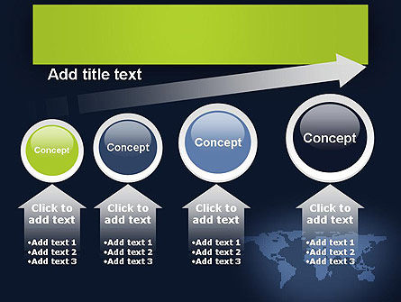 World Map Continents PowerPoint Template Slide 13