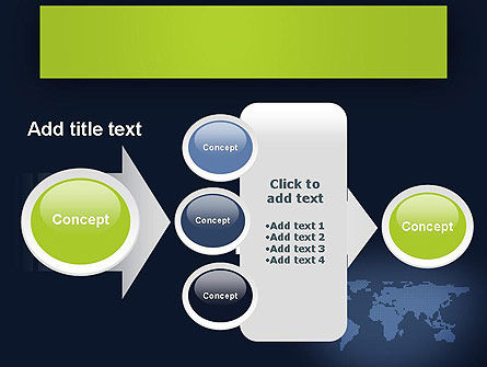 World Map Continents PowerPoint Template Slide 17