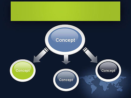 World Map Continents PowerPoint Template, Slide 4, 12357, Global — PoweredTemplate.com