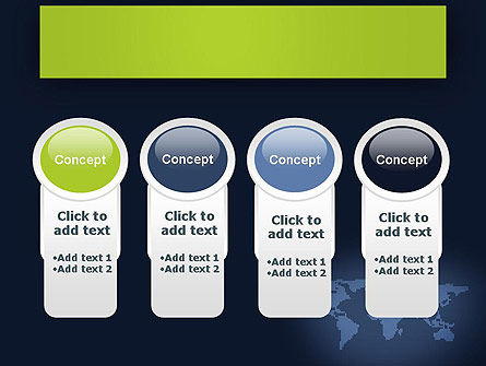 World Map Continents PowerPoint Template Slide 5