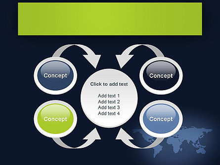 World Map Continents PowerPoint Template Slide 6