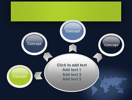 World Map Continents PowerPoint Template Slide 7