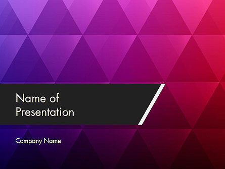 Purple Triangles Pattern PowerPoint Template, 12361, Abstract/Textures — PoweredTemplate.com