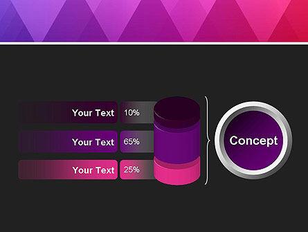 Purple Triangles Pattern PowerPoint Template Slide 11