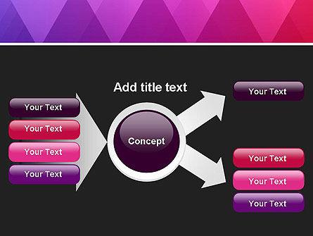 Purple Triangles Pattern PowerPoint Template Slide 14