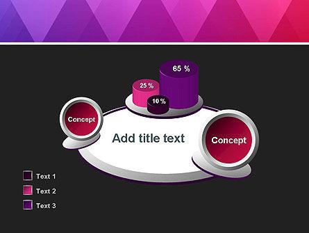 Purple Triangles Pattern PowerPoint Template Slide 16
