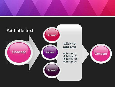 Purple Triangles Pattern PowerPoint Template Slide 17