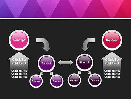Purple Triangles Pattern PowerPoint Template Slide 19