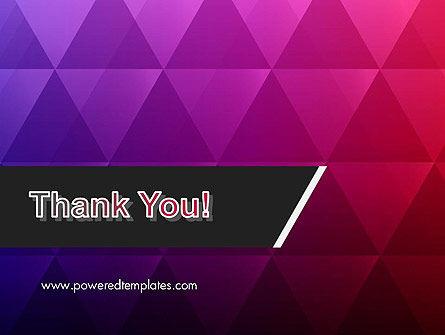 Purple Triangles Pattern PowerPoint Template Slide 20