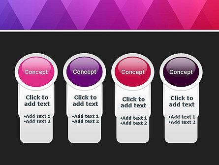 Purple Triangles Pattern PowerPoint Template Slide 5