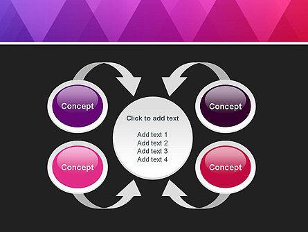 Purple Triangles Pattern PowerPoint Template Slide 6