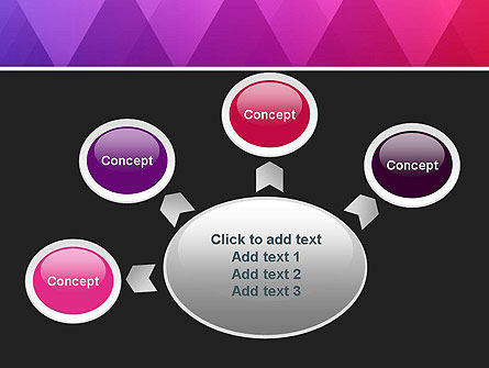 Purple Triangles Pattern PowerPoint Template Slide 7