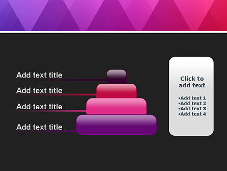 Purple Triangles Pattern PowerPoint Template Slide 8