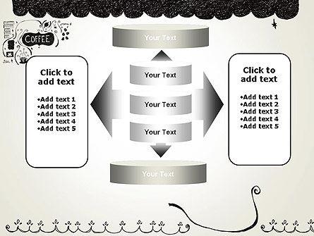 Coffee Doodles PowerPoint Template Slide 13