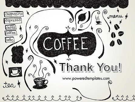 Coffee Doodles PowerPoint Template Slide 20