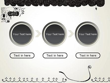 Coffee Doodles PowerPoint Template Slide 5