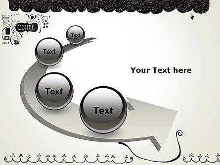 Coffee Doodles PowerPoint Template Slide 6