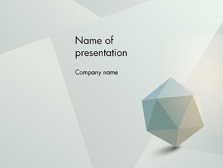 3D: 3D Icosahedron PowerPoint Template #12368