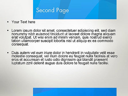 Blue Layers PowerPoint Template Slide 2