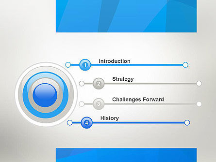 Blue Layers PowerPoint Template Slide 3