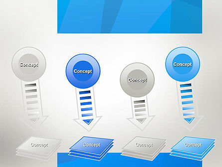 Blue Layers PowerPoint Template Slide 8