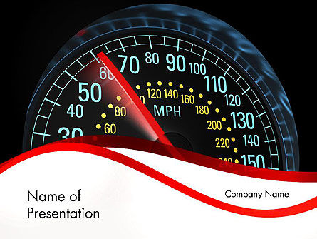 Cars and Transportation: Car Speedometer PowerPoint Template #12372