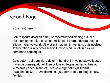 Car Speedometer PowerPoint Template, Slide 2, 12372, Cars and Transportation — PoweredTemplate.com