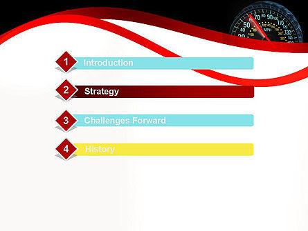 Car Speedometer PowerPoint Template, Slide 3, 12372, Cars and Transportation — PoweredTemplate.com