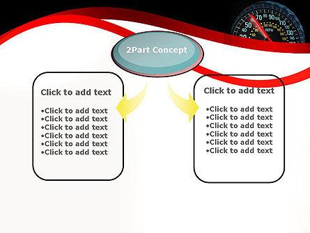 Car Speedometer PowerPoint Template, Slide 4, 12372, Cars and Transportation — PoweredTemplate.com
