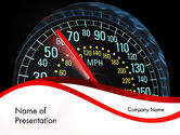 Cars and Transportation: Auto-tachometer PowerPoint Vorlage #12372