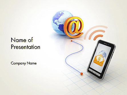 Mobile Network PowerPoint Template, 12373, Technology and Science — PoweredTemplate.com
