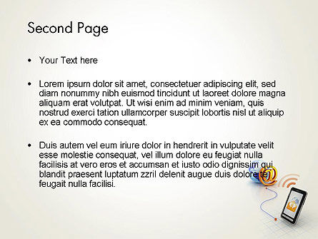 Mobile Network PowerPoint Template, Slide 2, 12373, Technology and Science — PoweredTemplate.com