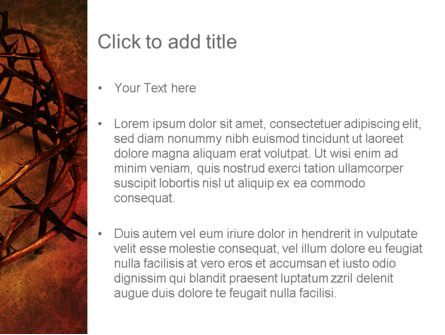 Crown of Thorns on Grunge PowerPoint Template, Slide 3, 12374, Religious/Spiritual — PoweredTemplate.com