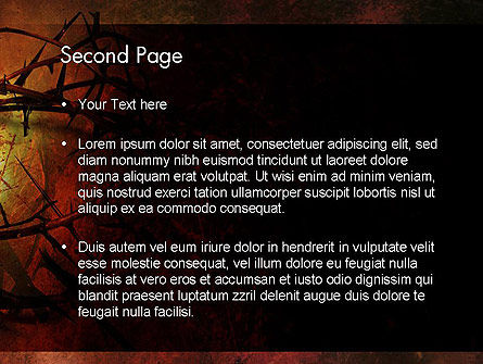 Crown of Thorns on Grunge PowerPoint Template, Slide 2, 12374, Religious/Spiritual — PoweredTemplate.com